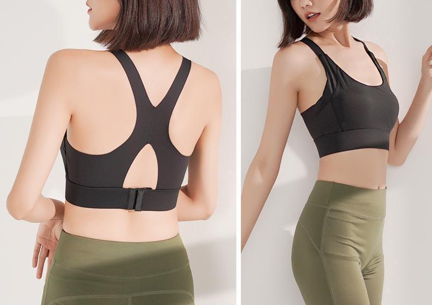 背扣可調X型鏤空美背防震運動BRA背心