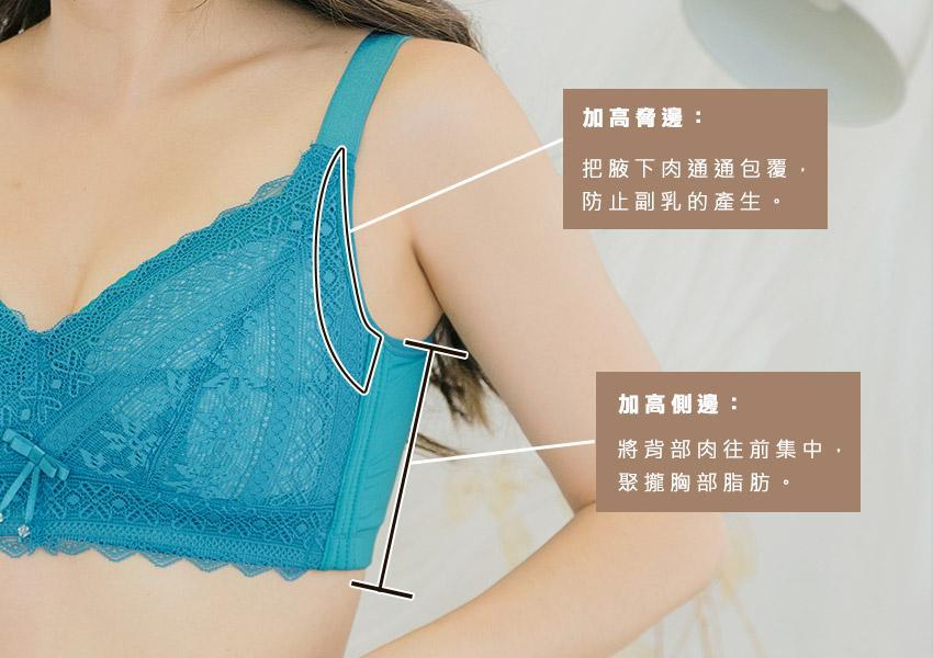 大罩杯內衣挑選的四大重點 :加高脅邊、加高側邊