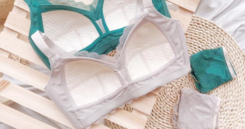 大罩杯內衣推薦:迷戀貝瑞卡。大尺碼無鋼圈圖騰蕾絲調整型內衣